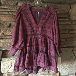 NWT Free People Time Out Lace Tunic